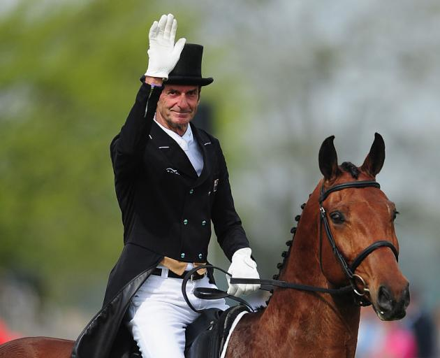 Sir Mark Todd riding Leonidas II at the Badminton Horse Trials. Photo: Getty Images