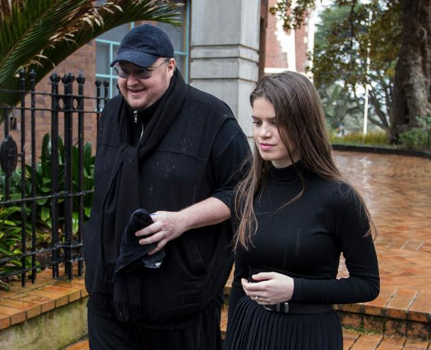 Kim Dotcom with wife Elizabeth Donnelly, Photo: Getty Images