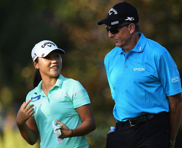 Lydia Ko with David Leadbetter in 2016.  Photo: Getty Images