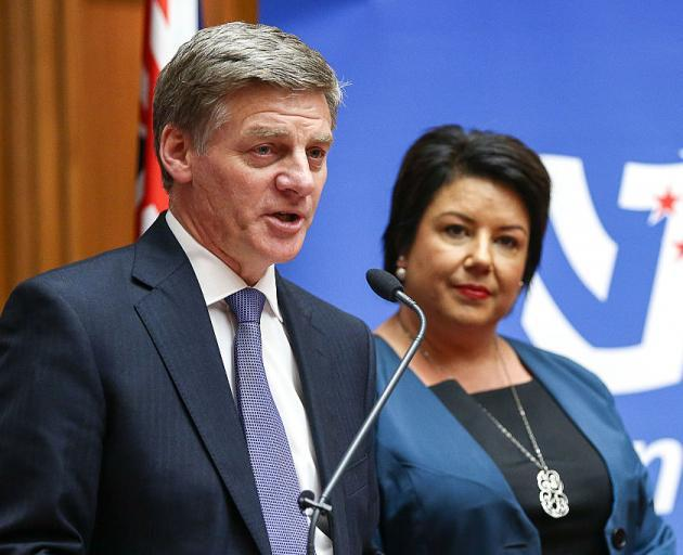 National leader Bill English and deputy Paula Bennett. Photo: Getty Images