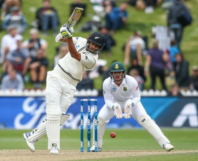 Batsman Jeet Raval: worked socks off in second test at the Basin Reserve. Photo: Getty Images