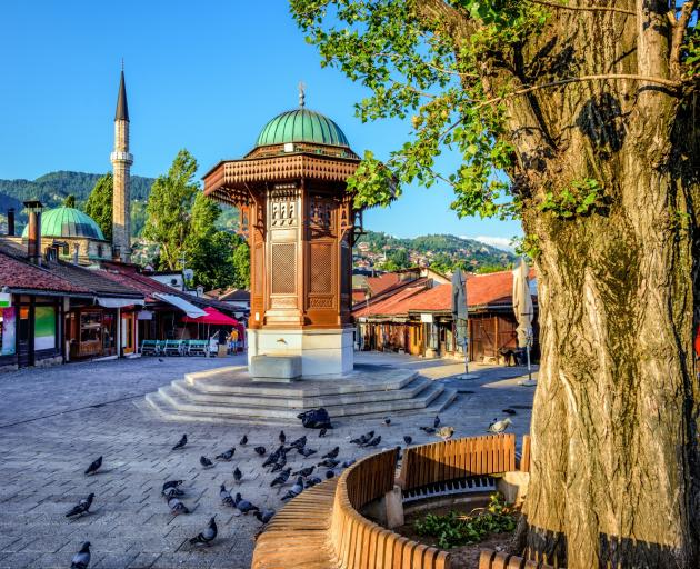 The Sebilj fountain in Old Town Sarajevo. Photo: Getty Images