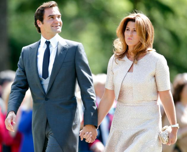 Roger Federer with wife Mirka. Photo: Getty Images