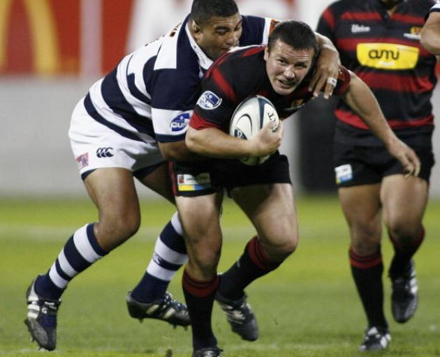 Aaron Mauger playing for Canterbury in 2006. Photo: Getty Images