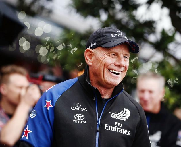 Team New Zealand's Grant Dalton at a parade celebrating the America's Cup victory earlier this...