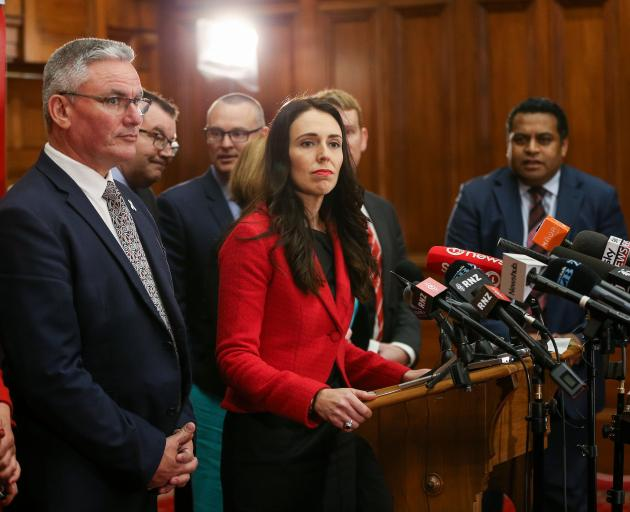 Newly appointed Labour leader Jacinda Ardern at Parliament yesterday. Photo: Getty Images