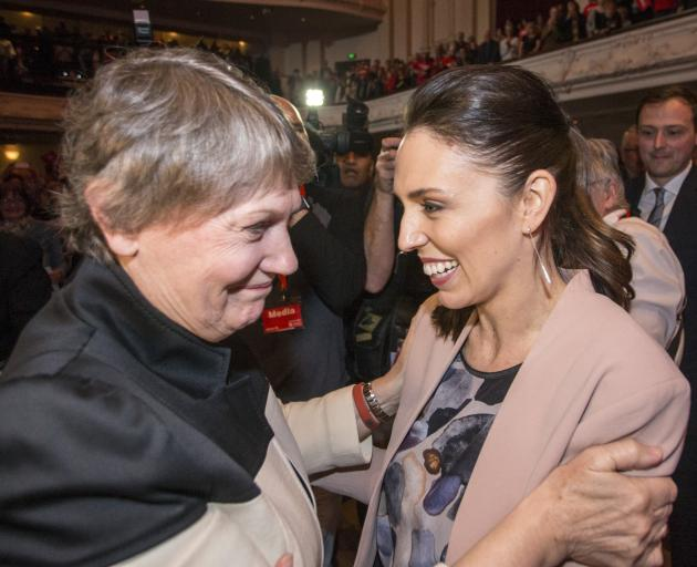 Helen Clark (left) with Jacinda Ardern at Labour's campaign launch in Auckland last month. Photo: Getty Images