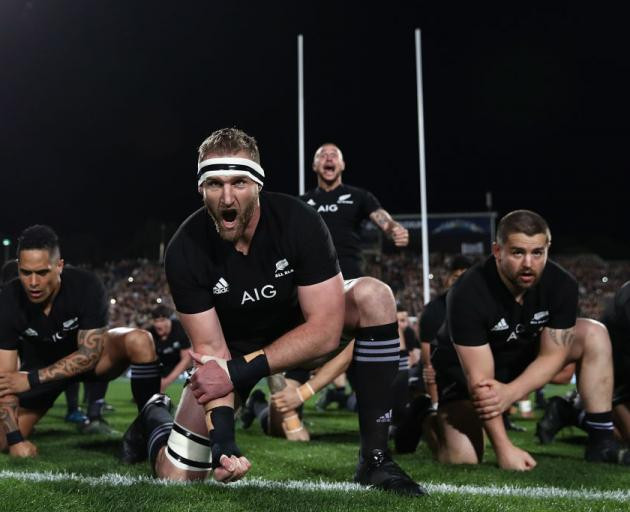 The All Blacks are aiming to win the Rugby World Cup for the third time in a row in 2019. Photo:...