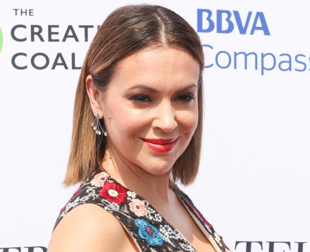 American actress Alyssa Milano. Photo: Getty Images