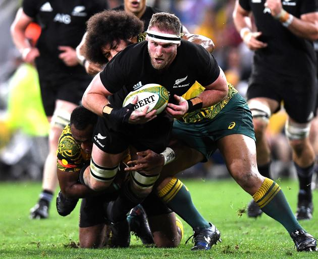 Kieran Read playing in October's Bledisloe Cup against Australian at Suncorp Stadium in Brisbane....
