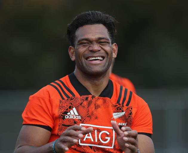 Seta Tamanivalu training with the All Black in London last year. Photo: Getty Images