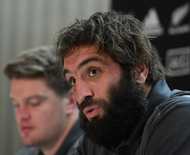 "Sam Whitelock will lead the All Blacks in the Haka: ''Hopefully it's up to scratch."" Photo: Getty..."
