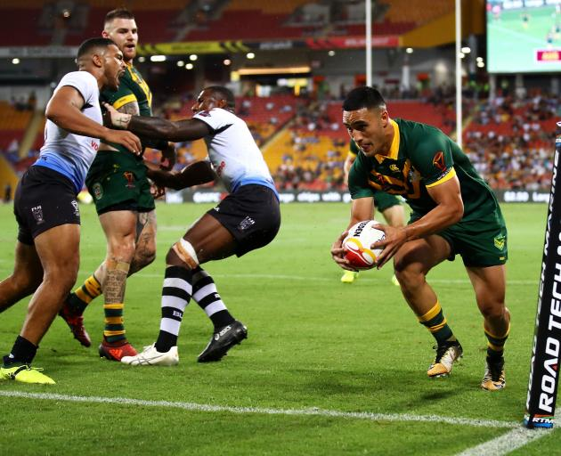 Valentine Holmes scores yet another try in Brisbane. Photo: Getty Images