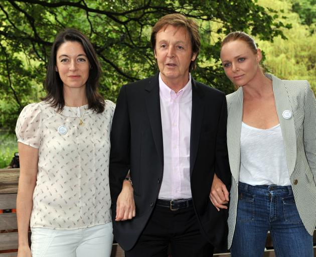 From left: Mary, Paul and Stella McCartney. Photo: Getty Images