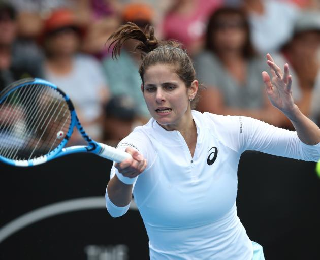 Julia Goerges had an easier time on court on her way to the final