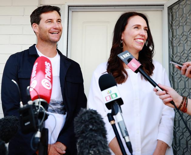 Prime Minister Jacinda Ardern and partner Clarke Gayford. Photo: Getty Images