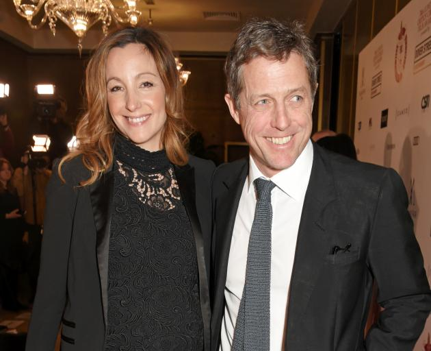 Anna Eberstein and Hugh Grant at an awards show in London earlier this year. Photo: Getty Images
