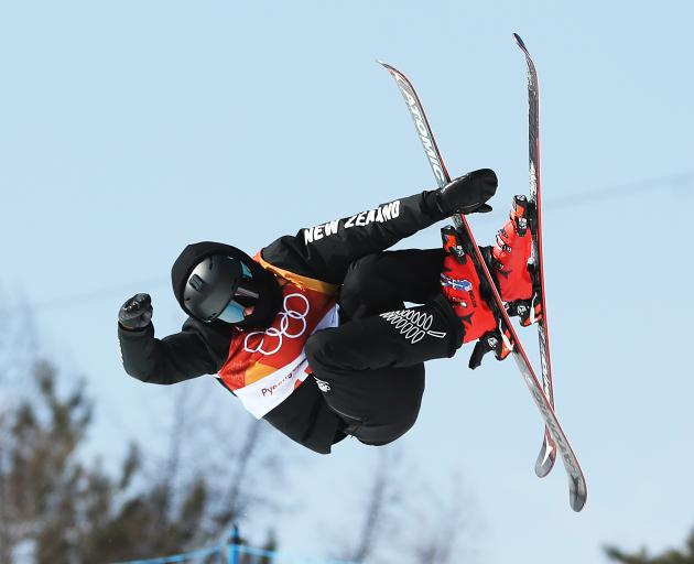 Nico Porteous competing in halfpipe final in PyeongChang. Photo: Getty Images