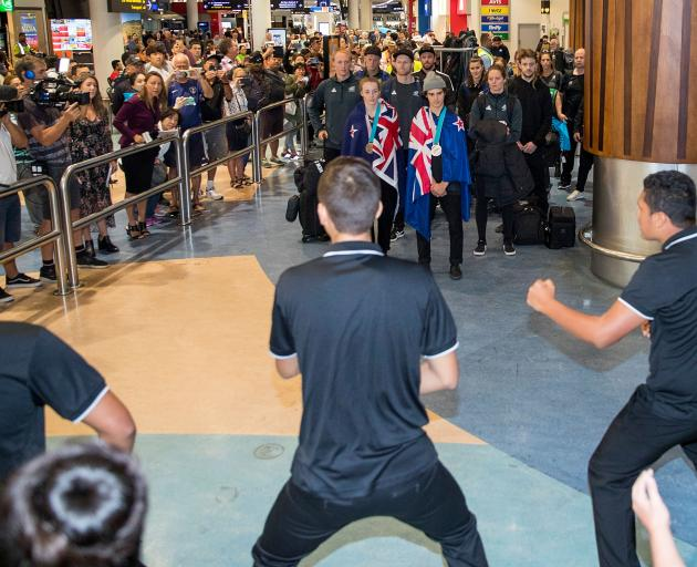 Rosehill College performed an official karanga from local iwi for the team. Photo: Getty Images