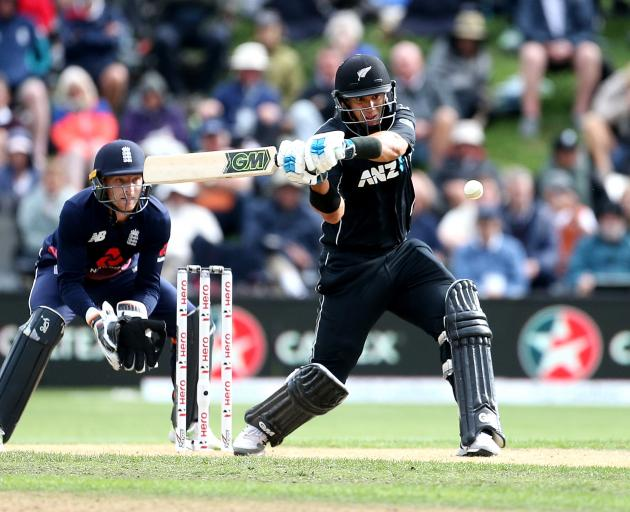 Ross Taylor steadied the ship for the Black Caps, powering to a century at the University Oval....