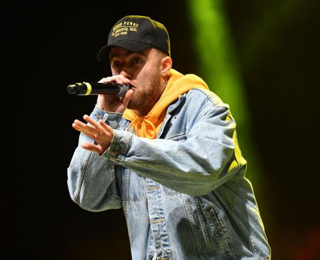 Mac Miller performing in California in May this year. Photo: Getty Images