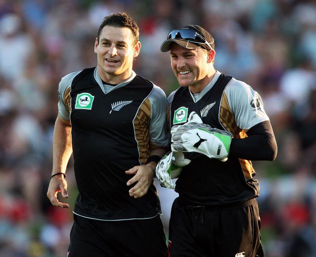 Nathan (left) and Brendon McCullum. Photo: Getty Images