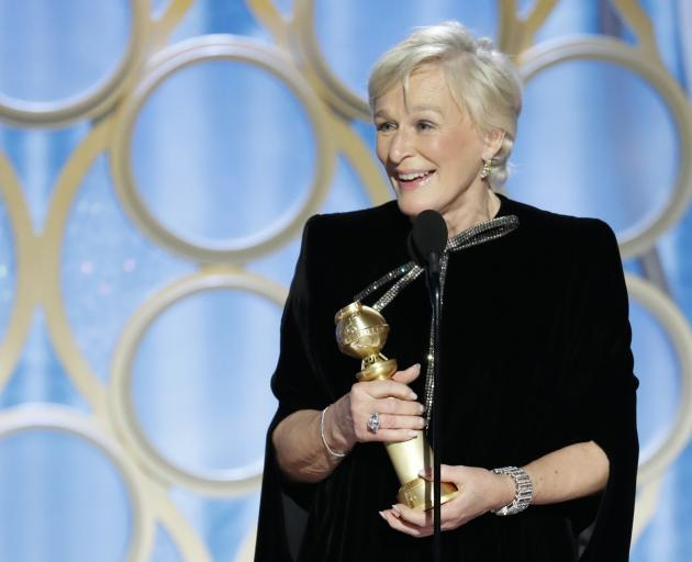 Glenn Close won for her role in The Wife. Photo: NBC Universal/Handout via Reuters