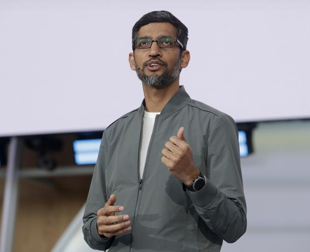 Google chief executive Sundar Pichai. Photo: AP