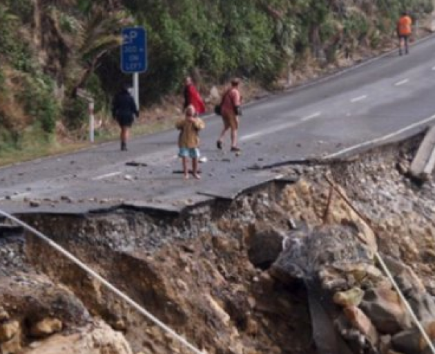 The storm has caused big slips on the West Coast. Photo: NZ Herald