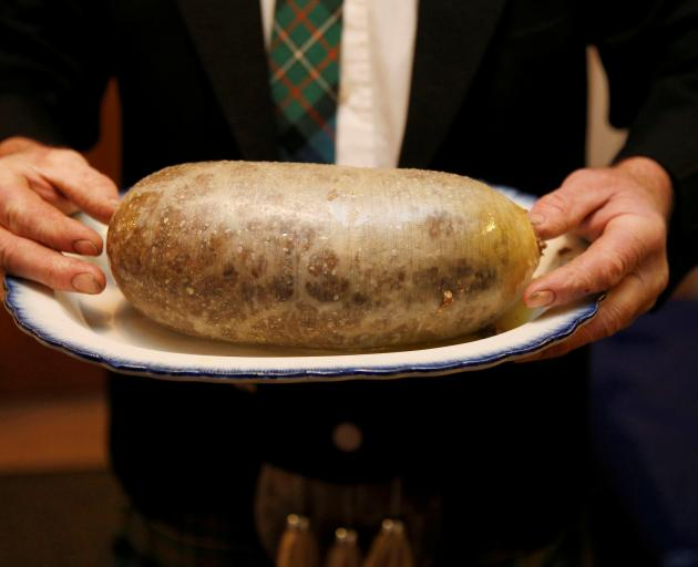 The haggis: sheep's stomach stuffed with offal, oats and pepper. Photo: Reuters