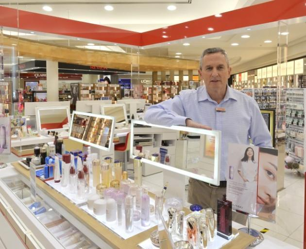 H&J Smith's chief executive John Green at the Dunedin store which only re-opened last week. PHOTO...