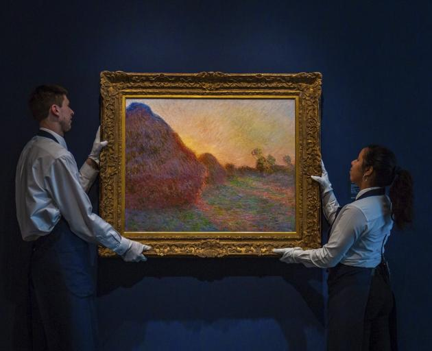 """The 1890 painting is one of only four works from the French painter's acclaimed """"Haystacks""""..."""