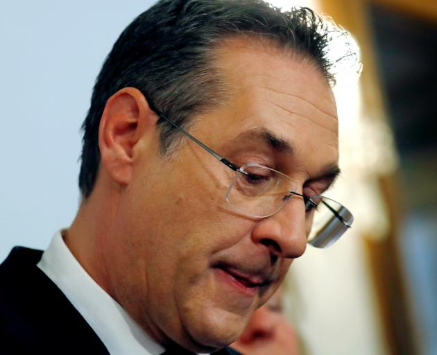 """""""It was dumb, it was irresponsible and it was a mistake,"""" Heinz-Christian Strache told a news..."""