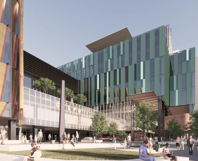 The design of the hospital continues to be refined and further changes to the façade are likely....