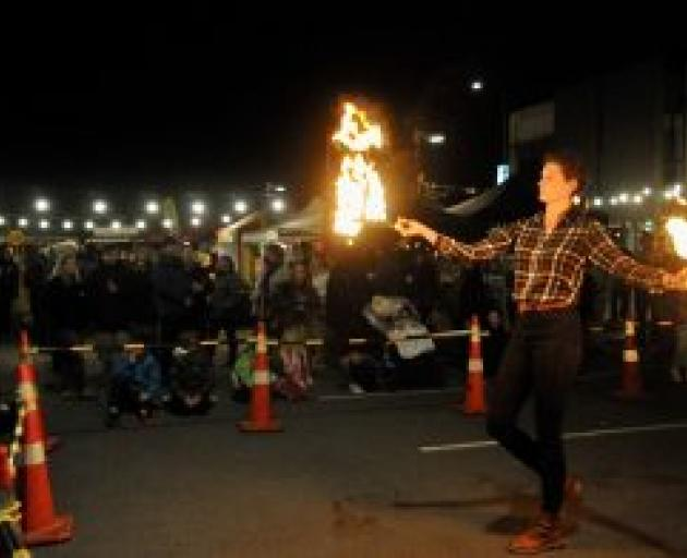 A fire dancer performing during the festival. Photo: Shelley Topp