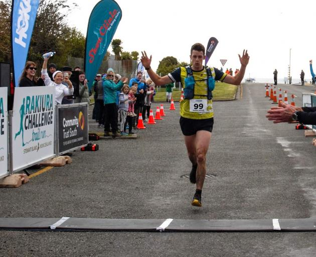 Patrick Higgins, of Nelson, was first to cross the line for the open men's race with a time of 2h 32min. Photo: Sandra Whipp