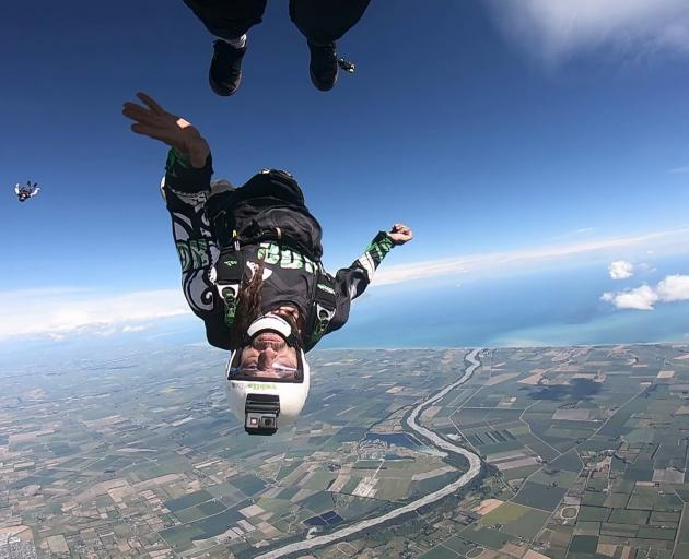 Lee Barraclough runs Skydiving Kiwis. Photo: Supplied