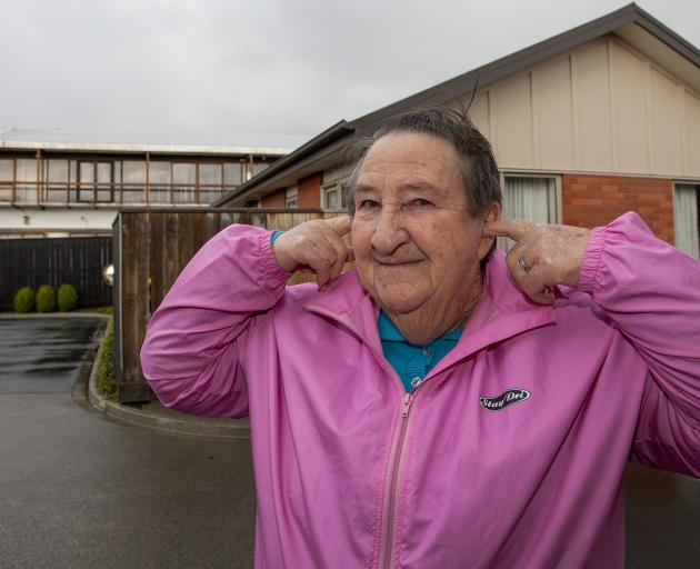 Rona Clayton lives next to the Light of All Nations church. Photo: Geoff Sloan