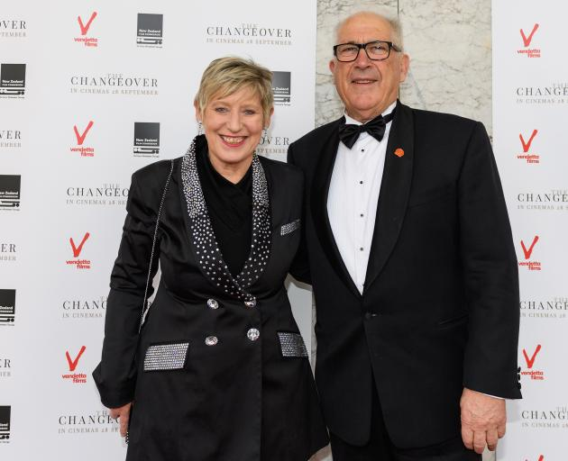 Lianne Dalziel and her late husband Rob Davidson. Photo: Kai Schwoerer / Getty Images