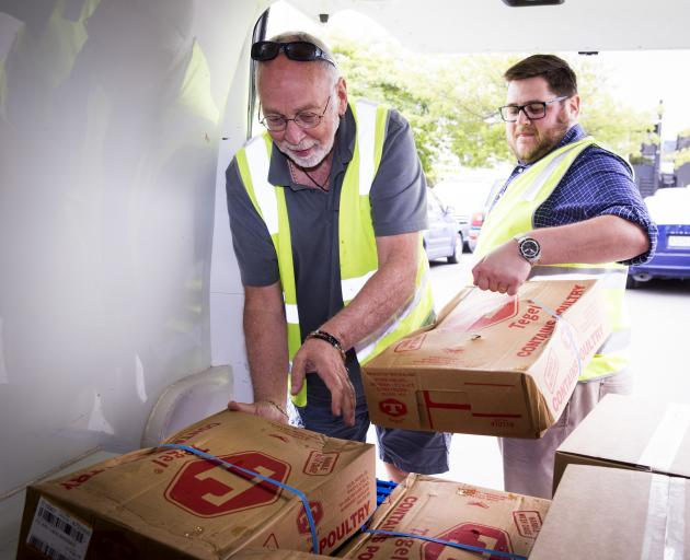 Dr John Milligan (left) said Foodbank Canterbury assists with the provision of almost 10,000...