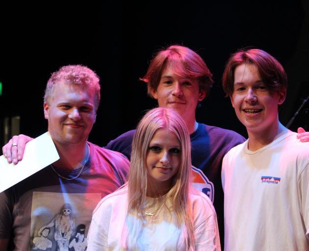 Cashmere High School students Liam Crawford, Briannah Jarvis, Jack Macdonald, Archie Macdonald...