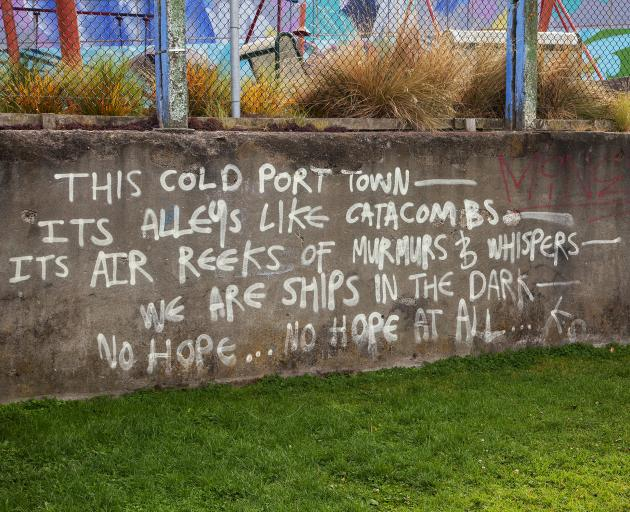 The poem before it was removed. Photo: Supplied