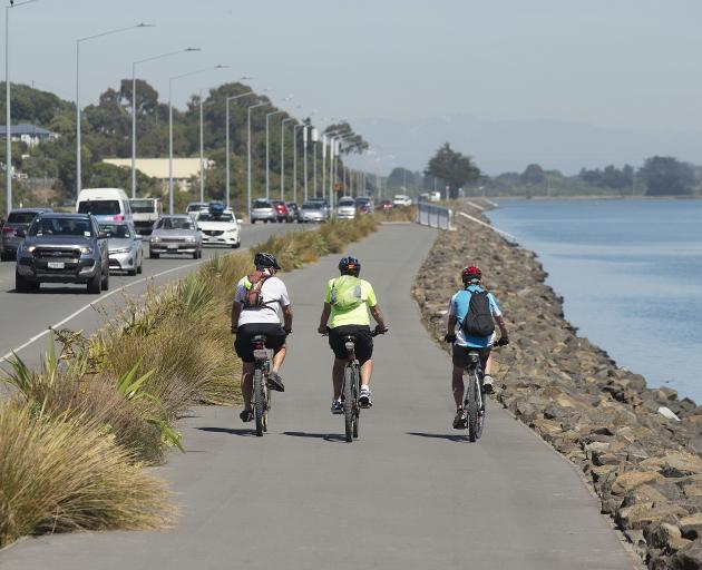 Cycleways like the Coastal Pathway are encouraging more people to get on their bikes. Photo:...
