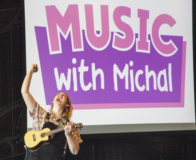 Michal Bush on stage. Photo: Geoff Sloan
