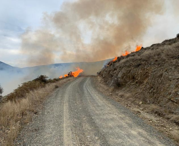 The fire affected up to 1000ha of land in Meyers Pass area. Photo: NZ Police