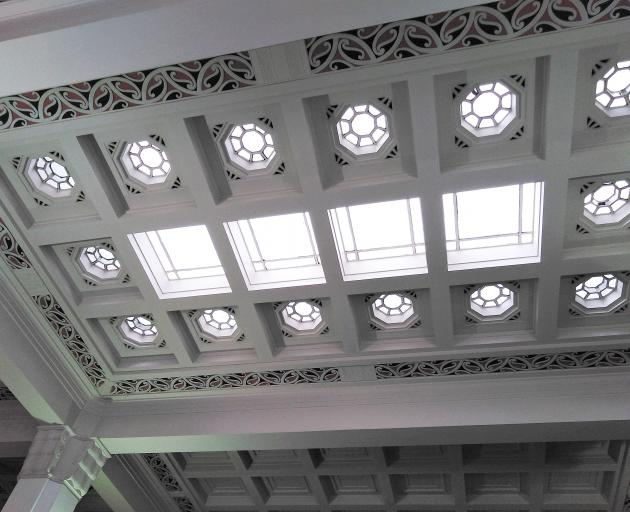 The ceiling in the ASB Bank Building in Napier. Photo: Hawke's Bay Tourism