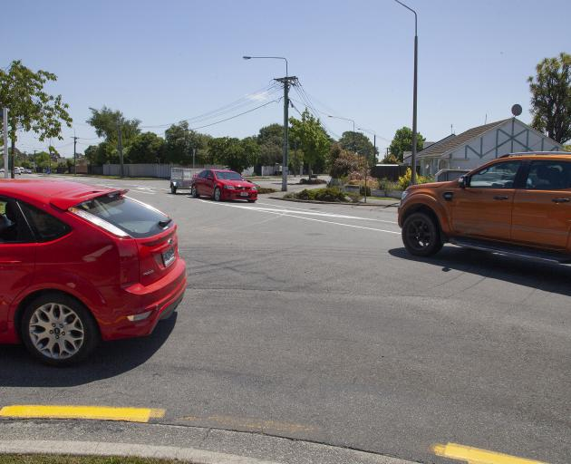 Traffic lights will be put in at the Hoon Hay, Worsleys and Cashmere Rds intersection. Photo:...