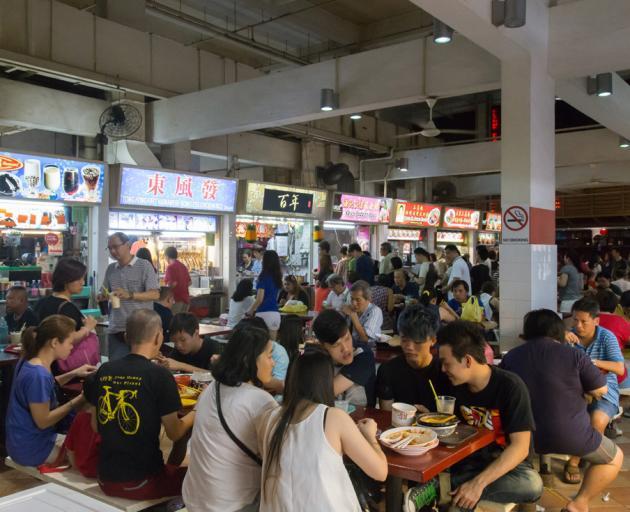 A popular foodcourt.