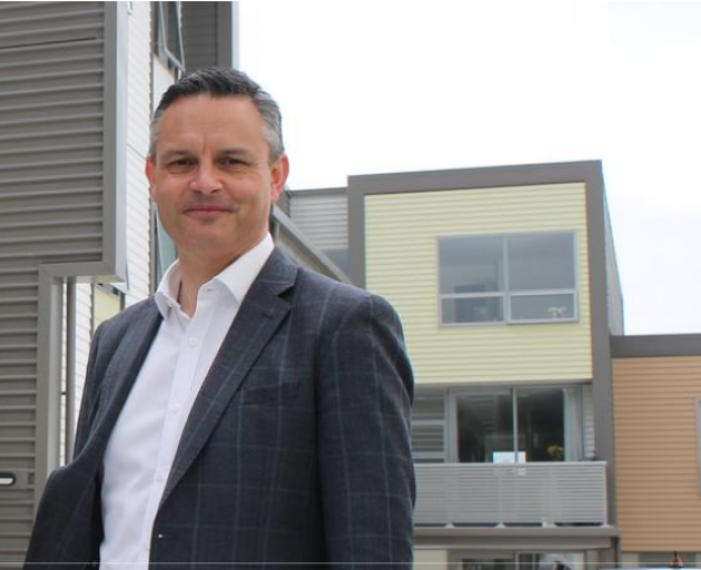 Green Party co-leader James Shaw during a visit to the Dwell Housing Trust in Kilbirnie, which...