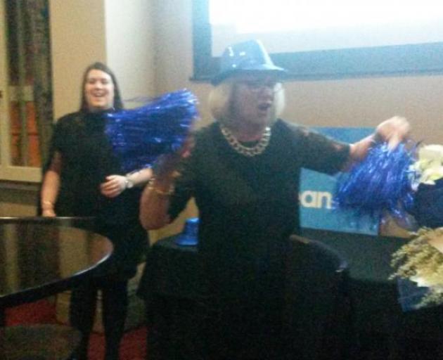 National candidate Jaqui Dean celebrates winning the Waitaki electorate. Photo: Shannon Gillies